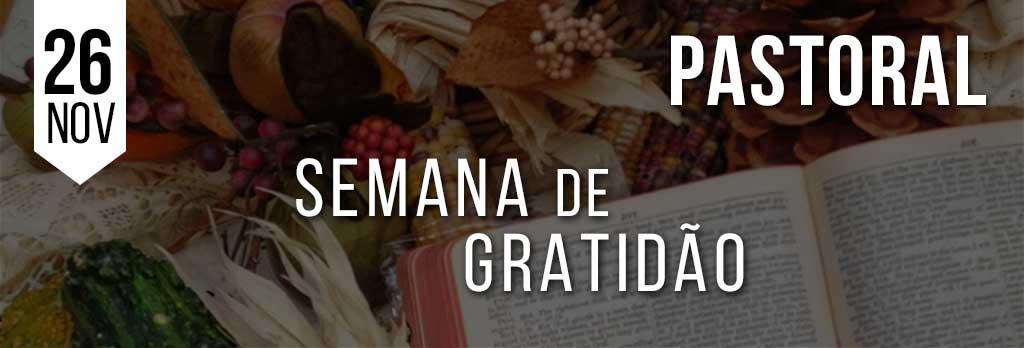 Semana de gratidão